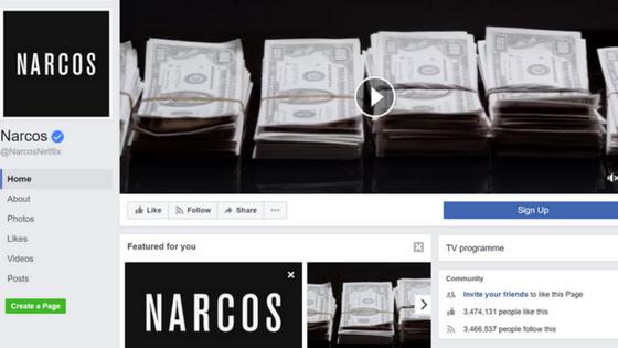 Narcos Facebook Page