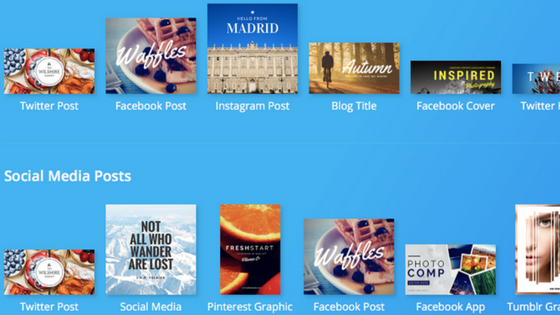 Canva - creating images for your social media