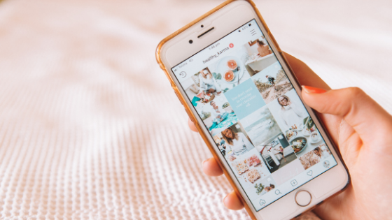 Pink phone - Instagram feed - micro influencer - South Coast Social