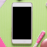 mobile phone and stationery