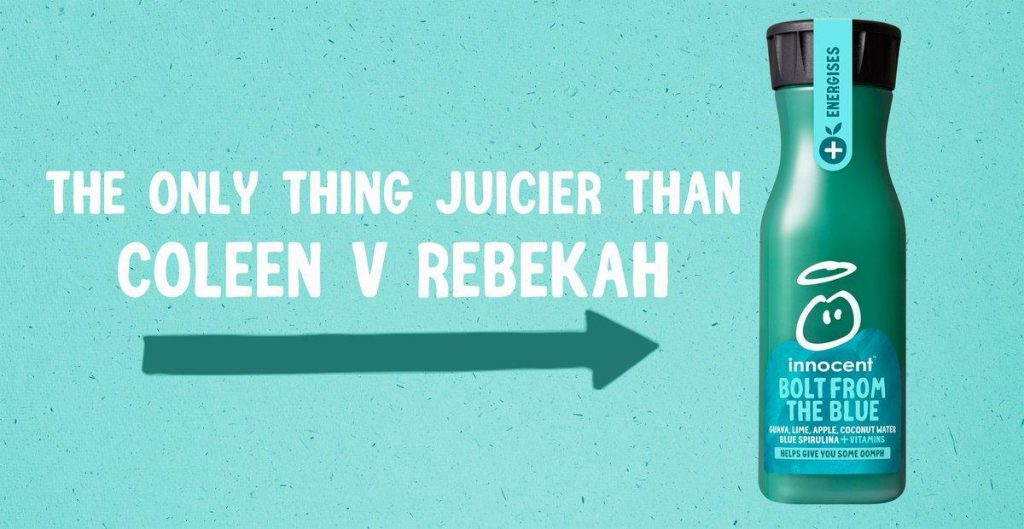 Innocent drinks reactive social media post - Coleen Rooney v Rebekah Vardy