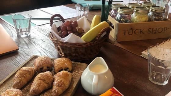 Hotel du Vin conference room breakfast