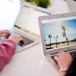 South Coast Social - women working on Apple Macbook laptops