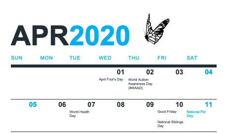 Free Download Social Media Calendar April 2020