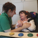 Julias House - carer and child