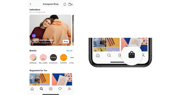 Instagram Shop - Explore Shopping - social media features in 2020