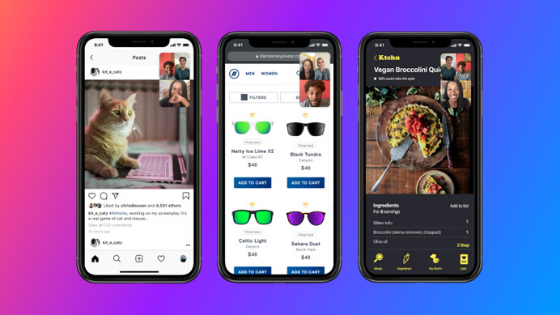 Messenger rooms - screen sharing - social media features in 2020